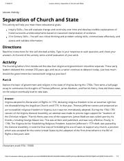 an analysis of the topic of the separation between the church and state Church and state: church and state they were not generally seen to conflict with the concept of a state church held the separation of church and state.