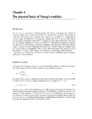 Physical basis youngs modulus