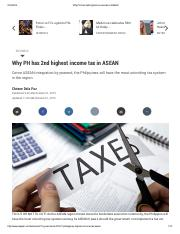 Why PH has 2nd highest income tax in ASEAN