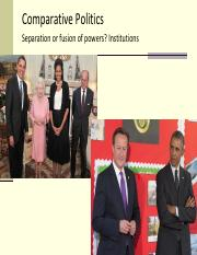 3 Separation or fusion of powers 1