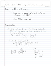 3-Solving basic odes, exponential fcn, Sin Cos fcn