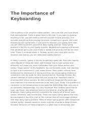 The Importance of Keyboarding.docx