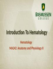 Module 01_Introduction to Hematology.ppt