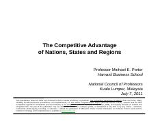 Compt. Advantage of Nations, States & Regions_Porter, M._2011-0707_Malaysia_vcon_b3574e10-758b-483f-