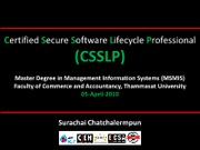 csslp-webgoat-by-surachaicpublish-presentation-1270743103-phpapp01