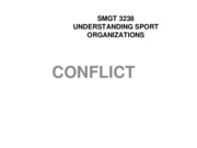 SMGT 3238 CHAPTER 11 CONFLICT Lecture Notes