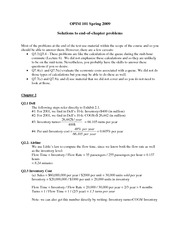 OPIM 101 - Spring 2010 - Textbook end of chapter questions - solutions