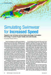 simulating swimwear for increased speed