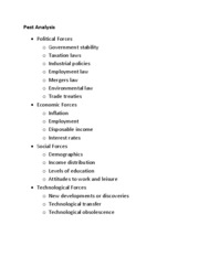 Acct 473 - Lecture notes - Pest Analysis + Porter 5 Forces
