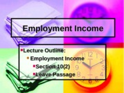 5. 1 - Employment income
