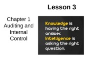 Chap01 Lesson3 Auditing and Internal Control