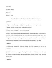 How to Read Literature like a Professor by Thomas C. Responses (2 space).docx