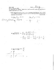 Exam A Summer 2013 on Calculus