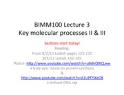 BIMM 100 Lecture 3 with questions