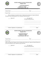 capstone approval form