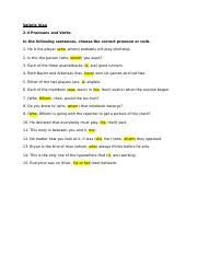 2-4 Pronouns, verbs