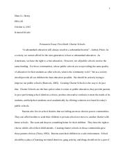 Persuasive Essay-First Draft-Charter Schools