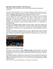 Wal-Mart's Sales Problem_And America's