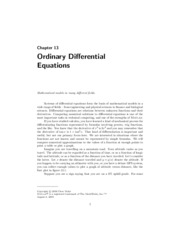 Ch13_ordinary differental equations