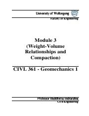 Module 3 - Weight-Volume Relationships and Compaction