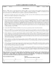 UGBA 179 International Consulting for SME's: Client Agreement Template