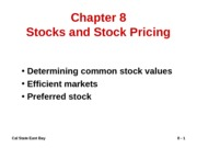 Stock valuation_Chapter 8