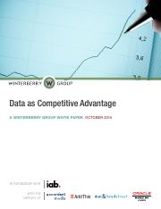 Data as competitive advantage
