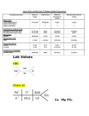 Insulin Chart & labs.docx