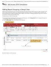 28 - Adding Report Grouping in Design View