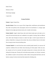 Colgate Strategy Worksheet