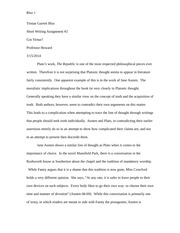 Short Writing Assignment 2