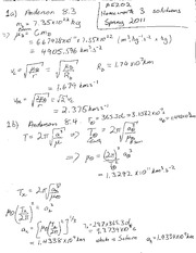 AE202 Problem Set 3 Solutions