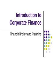 Introduction to Corporate Finance2.ppt
