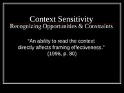 AOF4 ContextSensitivity