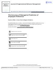 The Accuracy of Managerial Prediction of Employee Preference.pdf