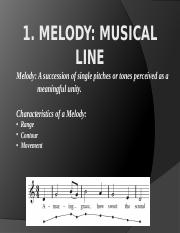 Chapter 1 Melody