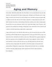 Aging and Memory.docx