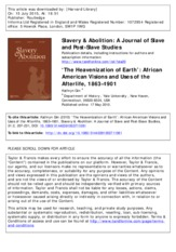 a jornal of slave and post slave1561+653 studies