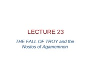 lecture 2308 - the fall of troy and the nostos of agamemnon