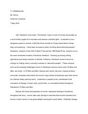 "Steinbeck ""Of Mice and Men"" essay.pdf"