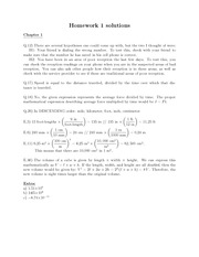 Physics101 Homework 1 with answers