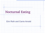 Nocturnal Eating
