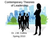 Contemporary Theories of Leadership