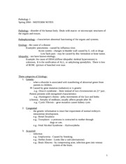 PATH 2541 Class Notes - Midterm (Additional)