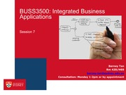 BUSS3500 Session 7