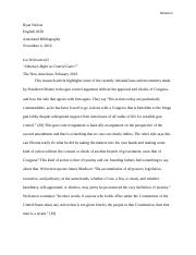 English Paper Annotated Bibliography