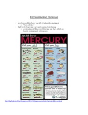 environmental pollution and mercury in fish