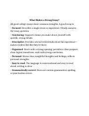 What Makes a Strong Essay.docx