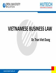 TVD - Vietnam business law - topic 5