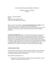 Syllabus ECON 302 BUSINESS and Eco Staistics ONLINE COURSE SYLLABUS.docx